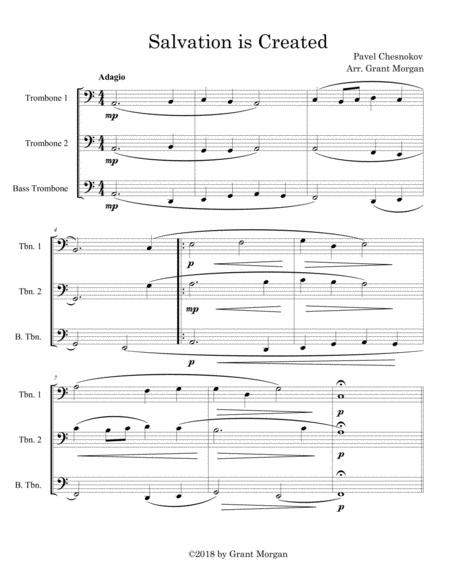 graphic regarding Free Printable Trombone Sheet Music titled Down load Electronic Sheet New music for 3 Trombones (trio)