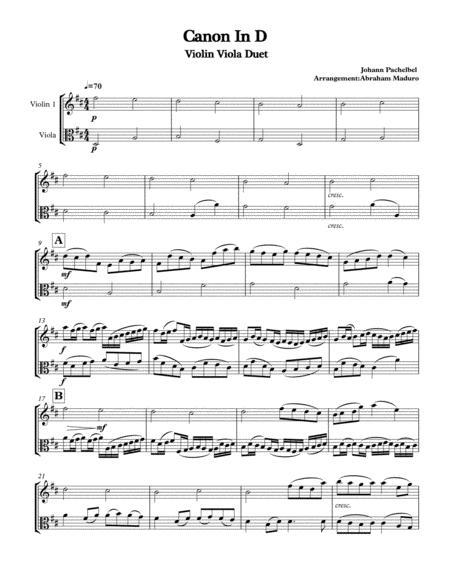 Download Digital Sheet Music for Violin, Viola (duet)