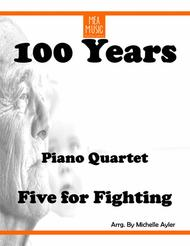 Five for Fighting  Sheet Music 100 Years (Quartet) Song Lyrics Guitar Tabs Piano Music Notes Songbook