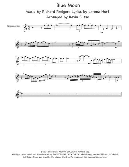 Download Digital Sheet Music for Soprano Saxophone