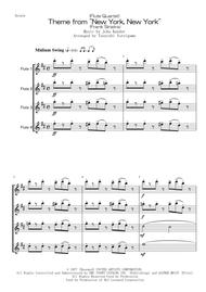 "(Flute Quartet) Theme From ""New York, New York"" (Frank Sinatra) sheet music"