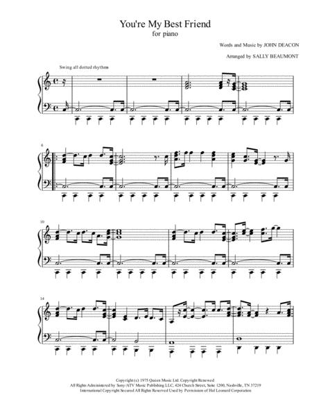 Download Digital Sheet Music of Queen Piano solo for Piano solo