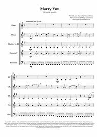 """""""Marry You"""" - for Wind Quintet sheet music"""