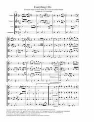 (Everything I Do) I Do It For You arranged for string quartet with score, parts & mp3 sheet music
