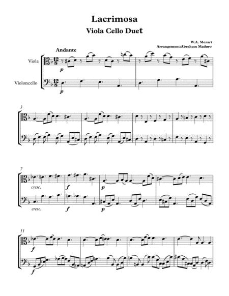 Download Digital Sheet Music for Viola, Cello (duet)
