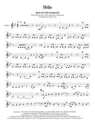 Adele Adkins/Greg Kurstin  Sheet Music (Adele) Hello for Violin and Piano Song Lyrics Guitar Tabs Piano Music Notes Songbook