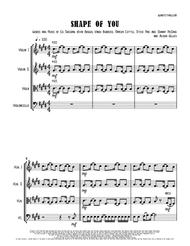 Download Digital Sheet Music of Ed Sheeran for String Quartet: 2
