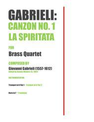 """""""Canzon No. 1: La Spiritata"""" for Brass Quartet - Giovanni Gabrieli sheet music"""