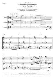 John Bettis/Richard Carpenter  Sheet Music <Flute Trio> Yesterday Once More a la Canon (Carpenters) Song Lyrics Guitar Tabs Piano Music Notes Songbook