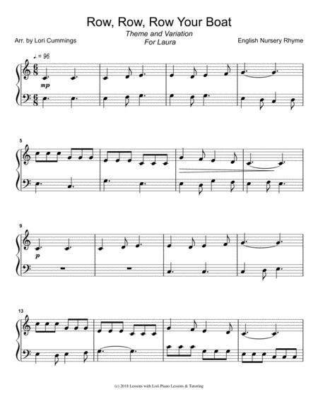 Children Nursery Rhyme Sheet Music To