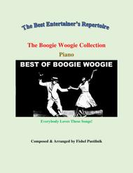 """Fishel Pustilnik  Sheet Music """"The Boogie Woogie Collection"""" for Piano Song Lyrics Guitar Tabs Piano Music Notes Songbook"""