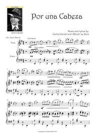"""Garlos Gardel  Sheet Music """"Por una Cabeza"""" Flute and Piano Carlos Gardel Song Lyrics Guitar Tabs Piano Music Notes Songbook"""