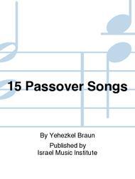 Yehezkel Braun  Sheet Music 15 Passover Songs Song Lyrics Guitar Tabs Piano Music Notes Songbook