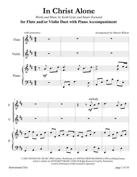 in christ alone violin sheet music pdf