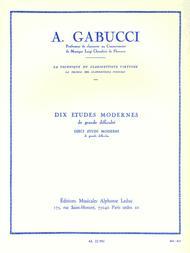 Agostino Gabucci  Sheet Music 10 Etudes Modernes De Grande Difficulte (clarinet Solo) Song Lyrics Guitar Tabs Piano Music Notes Songbook