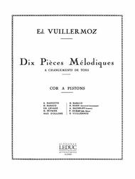 Emile Vuillermoz  Sheet Music 10 Pieces Melodiques A Changements De Tons (horn Solo) Song Lyrics Guitar Tabs Piano Music Notes Songbook