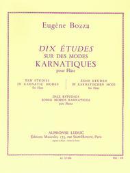 Eugene Bozza  Sheet Music 10 Etudes Sur Des Modes Karnatiques (flute Solo) Song Lyrics Guitar Tabs Piano Music Notes Songbook