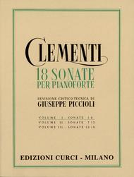 Muzio Clementi, Giuseppe Piccioli  Sheet Music 18 Sonate per pianoforte Song Lyrics Guitar Tabs Piano Music Notes Songbook
