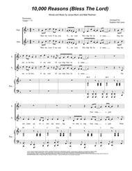 Matt Redman  Sheet Music 10,000 Reasons (Bless The Lord) (for 2-part choir - (SA) Song Lyrics Guitar Tabs Piano Music Notes Songbook