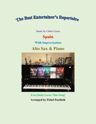 """Chick Corea  Sheet Music """"Spain"""" for Alto Sax and Piano (with Improvisation)-Video Song Lyrics Guitar Tabs Piano Music Notes Songbook"""