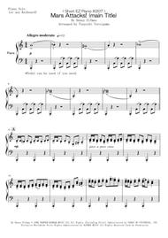 Danny Elfman  Sheet Music < Short EZ Piano #207 > Mars Attacks! (main Title) Song Lyrics Guitar Tabs Piano Music Notes Songbook