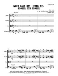 Jackie Wilson  Sheet Music (Your Love Has Lifted Me) Higher And Higher - String Quartet Song Lyrics Guitar Tabs Piano Music Notes Songbook