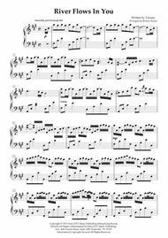 "Yiruma  Sheet Music ""River Flows In You"" (Yiruma's 2011 live concert version) - Piano solo Song Lyrics Guitar Tabs Piano Music Notes Songbook"