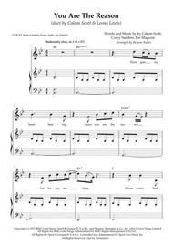 """Calum Scott, Leona Lewis  Sheet Music """"You Are The Reason"""" (duet by Calum Scott & Leona Lewis) Song Lyrics Guitar Tabs Piano Music Notes Songbook"""