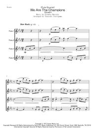 Queen  Sheet Music <Flute Quartet> We Are The Champions (Queen) Song Lyrics Guitar Tabs Piano Music Notes Songbook