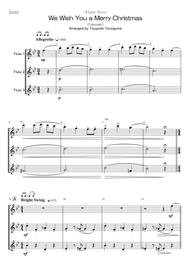 (Unknown)  Sheet Music <Flute Trio> We Wish You a Merry Christmas Song Lyrics Guitar Tabs Piano Music Notes Songbook
