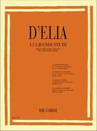 Antonio d'Elia  Sheet Music 12 Grandi Studi Song Lyrics Guitar Tabs Piano Music Notes Songbook