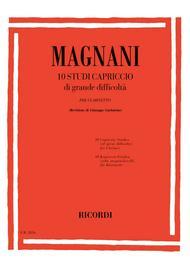 Aurelio Magnani  Sheet Music 10 Studi Capriccio Di Grande Difficolta Song Lyrics Guitar Tabs Piano Music Notes Songbook
