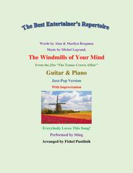 """Sting  Sheet Music """"The Windmills Of Your Mind"""" for Guitar and Piano (With Improvisation)-Video Song Lyrics Guitar Tabs Piano Music Notes Songbook"""