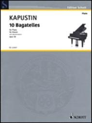Nikolai Kapustin  Sheet Music 10 Bagatelles, Op. 59 Song Lyrics Guitar Tabs Piano Music Notes Songbook