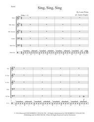 "Benny Goodman  Sheet Music ""Sing, Sing, Sing"" for Steel Band Song Lyrics Guitar Tabs Piano Music Notes Songbook"