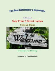 "Secret Garden  Sheet Music ""Song From A Secret Garden"" for Cello and Piano-Jazz/Pop Version (Video) Song Lyrics Guitar Tabs Piano Music Notes Songbook"