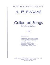 H. Leslie Adams  Sheet Music [Adams] Collected Songs Song Lyrics Guitar Tabs Piano Music Notes Songbook