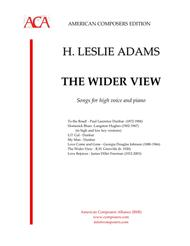 H. Leslie Adams  Sheet Music [Adams] The Wider View Song Lyrics Guitar Tabs Piano Music Notes Songbook