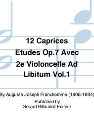 Auguste Franchomme  Sheet Music 12 Caprices Etudes Op.7 Avec 2e Violoncelle Ad Libitum Vol.1 Song Lyrics Guitar Tabs Piano Music Notes Songbook