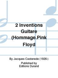Jacques Casterede  Sheet Music 2 Inventions Guitare (Hommage.Pink Floyd Song Lyrics Guitar Tabs Piano Music Notes Songbook