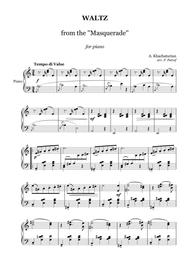 A. Khachaturian  Sheet Music ?. Khachaturian - WALTZ from the ''Masquerade'' - piano solo Song Lyrics Guitar Tabs Piano Music Notes Songbook