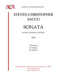 Steven Sacco  Sheet Music [Sacco] Sonata for Bass Trombone and Piano Song Lyrics Guitar Tabs Piano Music Notes Songbook