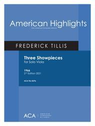 Frederick Tillis  Sheet Music [Tillis] Three Showpieces for Viola Song Lyrics Guitar Tabs Piano Music Notes Songbook