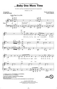 Britney Spears  Sheet Music ...Baby One More Time (arr. Mark Brymer) Song Lyrics Guitar Tabs Piano Music Notes Songbook