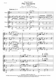 Queen  Sheet Music <Flute Quartet> Play The Game (Queen) Song Lyrics Guitar Tabs Piano Music Notes Songbook