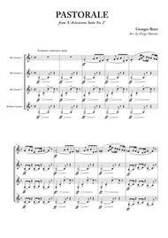 """Georges Bizet  Sheet Music """"L'Arlesienne Suite No. 2"""" for Clarinet Quartet Song Lyrics Guitar Tabs Piano Music Notes Songbook"""