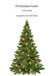 Various  Sheet Music 10 Christmas Carols for Concert Band Song Lyrics Guitar Tabs Piano Music Notes Songbook
