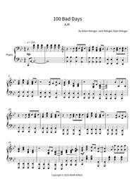 AJR  Sheet Music 100 Bad Days - AJR (Piano solo) Song Lyrics Guitar Tabs Piano Music Notes Songbook