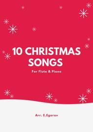 Various  Sheet Music 10 Christmas Songs For Flute & Piano Song Lyrics Guitar Tabs Piano Music Notes Songbook