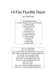 Traditional  Sheet Music 14 Fun Flexible Duets Song Lyrics Guitar Tabs Piano Music Notes Songbook
